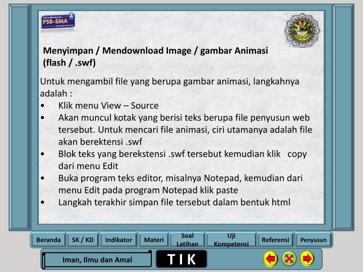 Menyimpan / Mendownload Image / gambar Animasi (flash / .swf