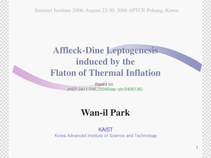 affleck dine leptogenesis induced by the flaton of thermal inflation n.