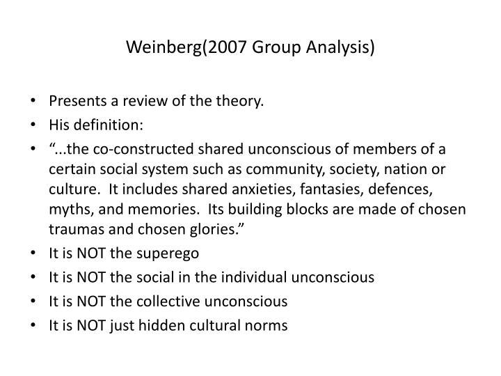 Weinberg(2007 Group Analysis)