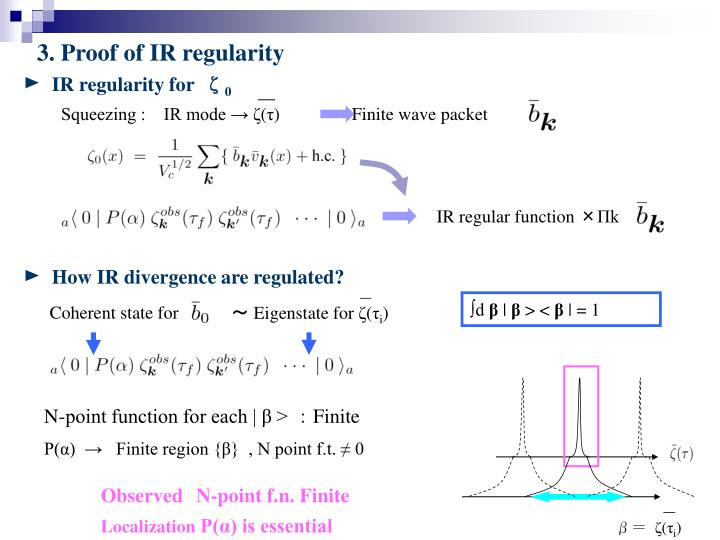 IR regularity for