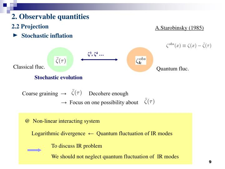 Stochastic inflation