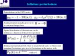 inflation perturbations