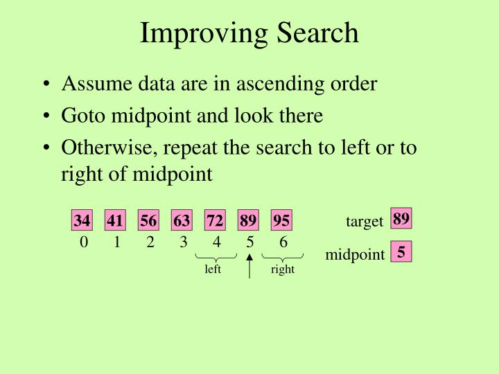 Improving Search