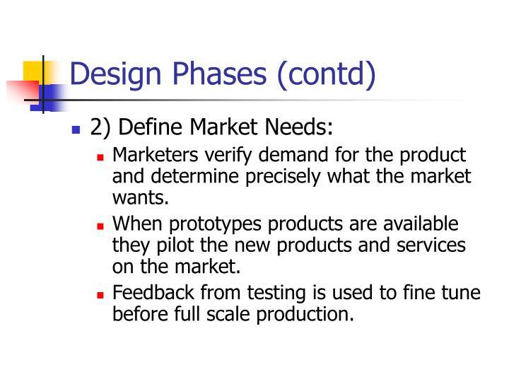 Design Phases (contd)