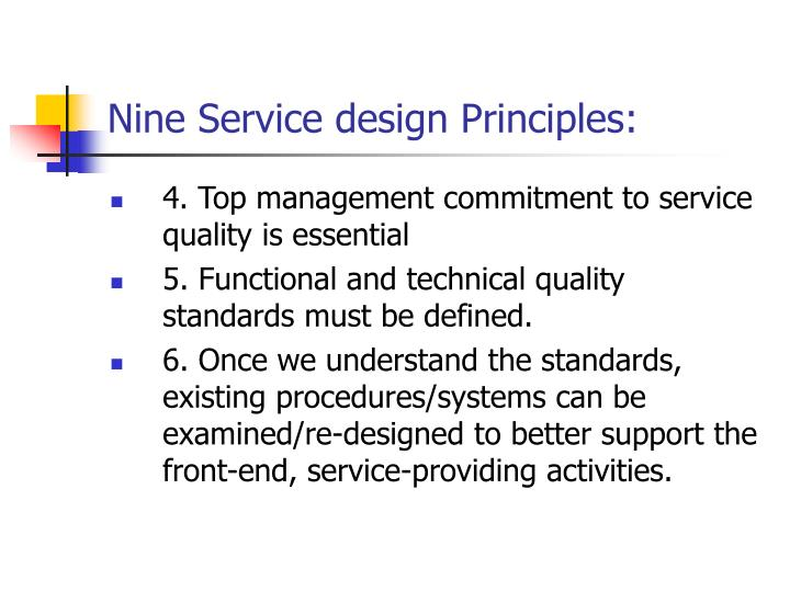 Nine Service design Principles: