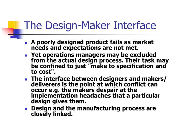 The design maker interface
