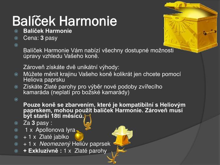 Balíček Harmonie