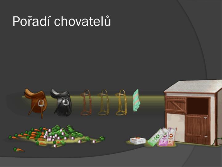 Pořadí chovatelů