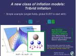 a new class of inflation models tribrid inflation8