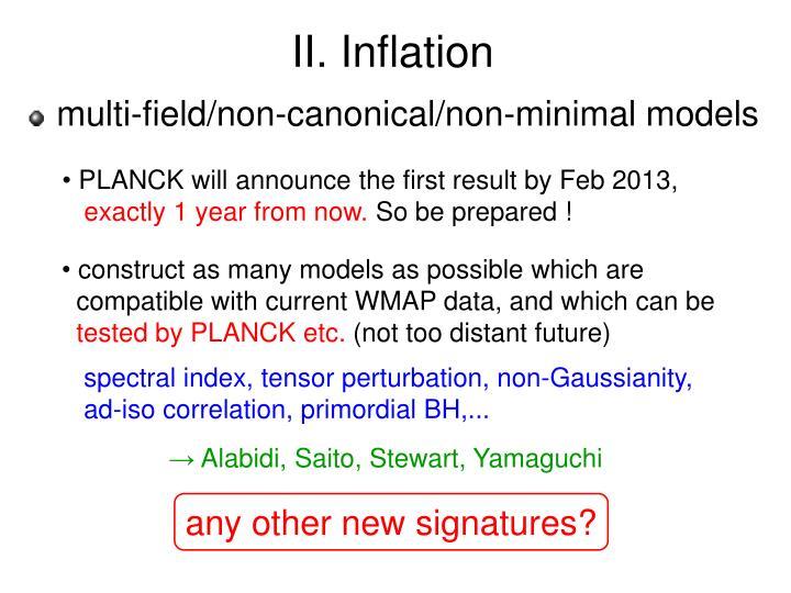 II. Inflation