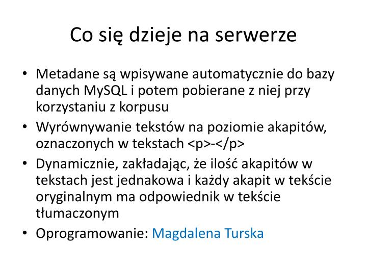 Co się dzieje na serwerze