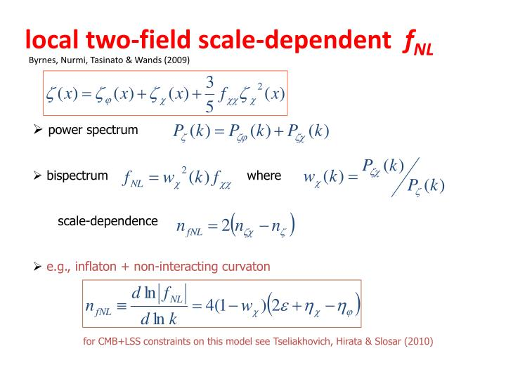 local two-field scale-dependent