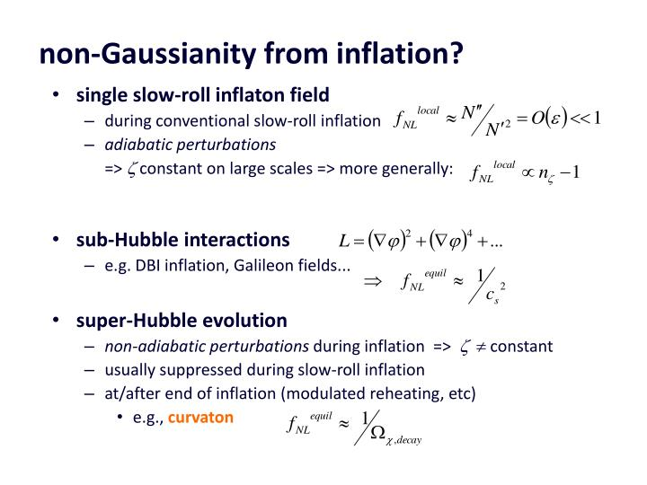 non-Gaussianity from inflation?