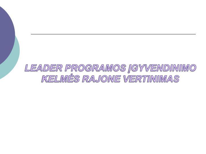 LEADER PROGRAMOS