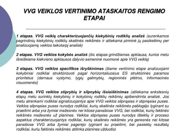 VVG VEIKLOS VERTINIMO ATASKAITOS RENGIMO ETAPAI