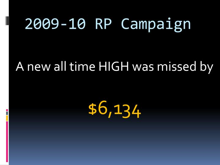 2009-10 RP Campaign