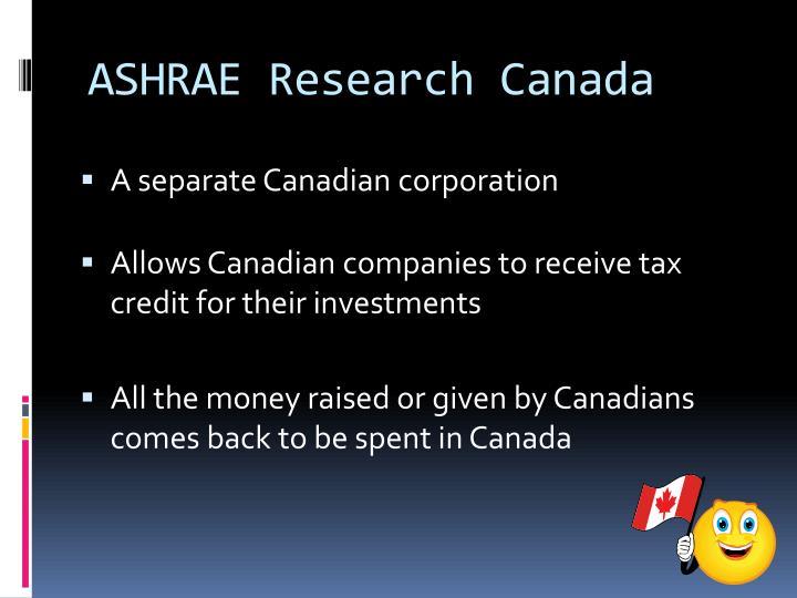 ASHRAE Research Canada