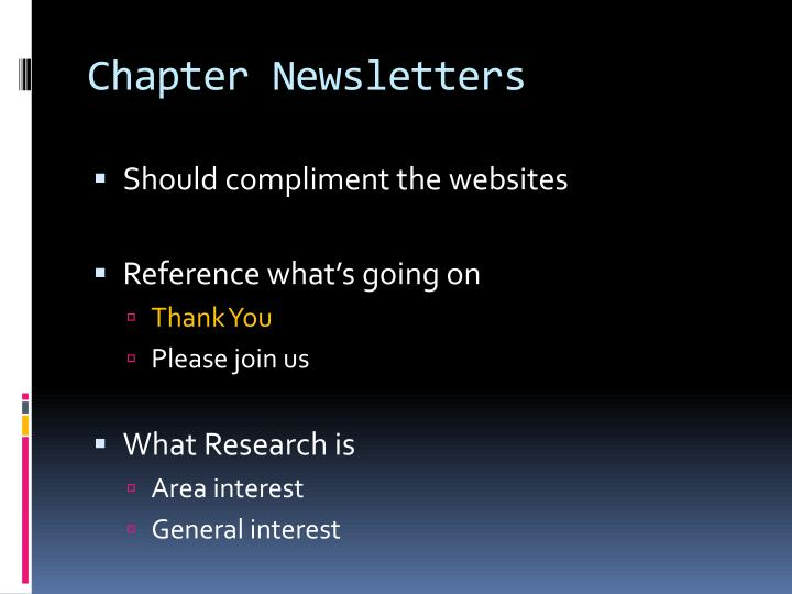 Chapter Newsletters
