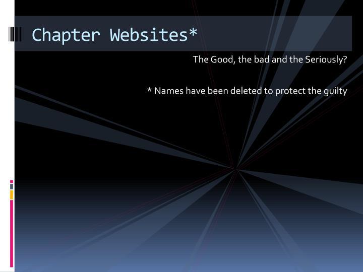 Chapter Websites*