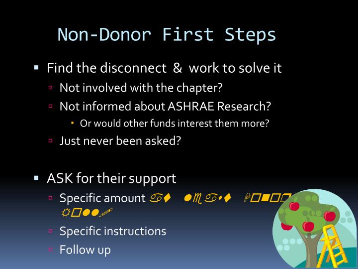 Non-Donor First Steps