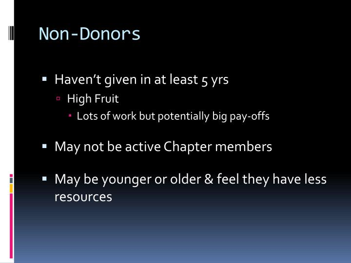 Non-Donors