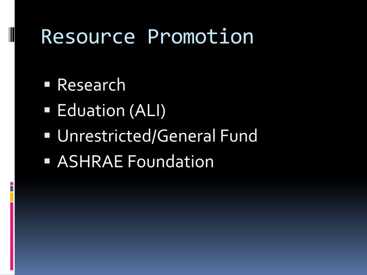 Resource Promotion