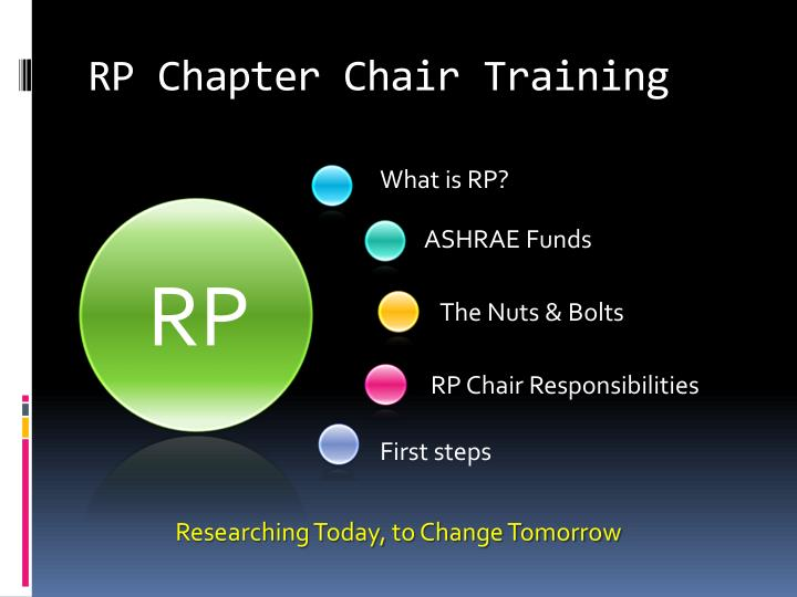 Rp chapter chair training