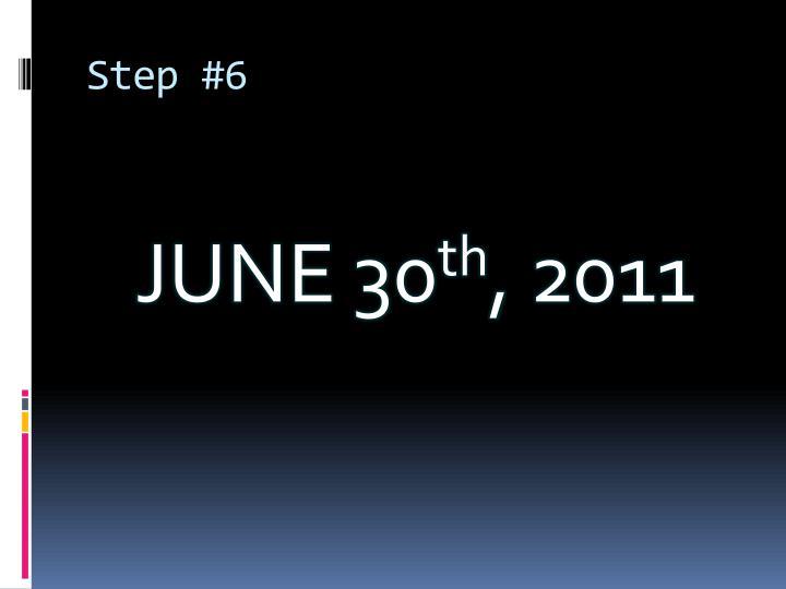 Step #6