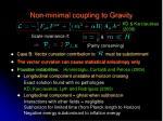 non minimal coupling to gravity