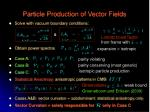 particle production of vector fields1