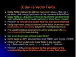scalar vs vector fields