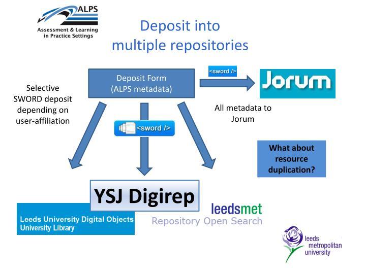 Deposit into