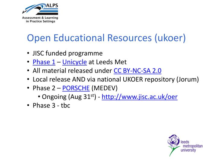 Open Educational Resources (