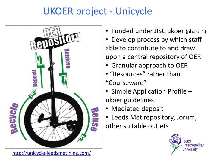 UKOER project - Unicycle