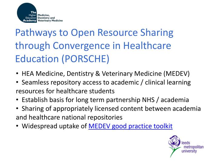 Pathways to Open Resource Sharing through Convergence in Healthcare