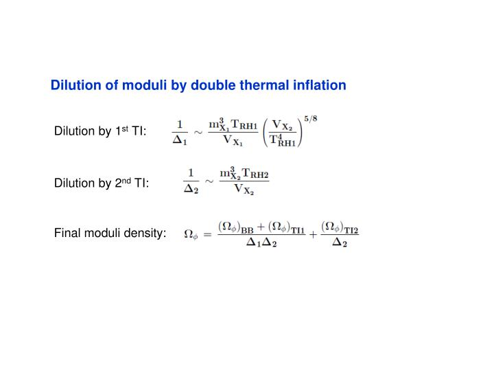 Dilution of moduli by double thermal inflation
