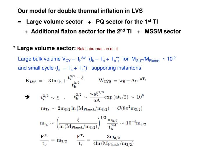 Our model for double thermal inflation in LVS