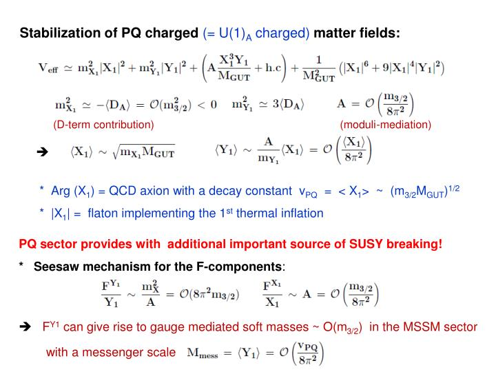Stabilization of PQ charged