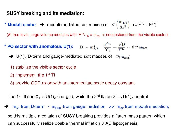 SUSY breaking and its mediation: