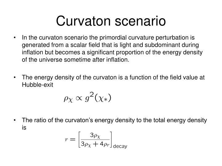Curvaton scenario