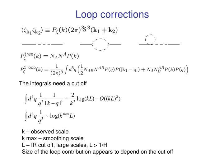 Loop corrections