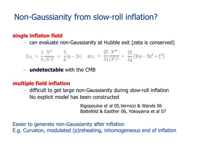Non-Gaussianity from slow-roll inflation?