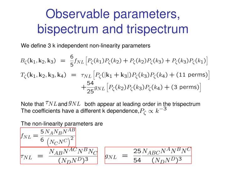 Observable parameters,
