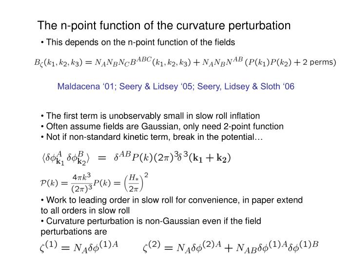 The n-point function of the curvature perturbation