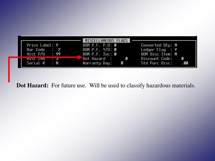 Dot Hazard: