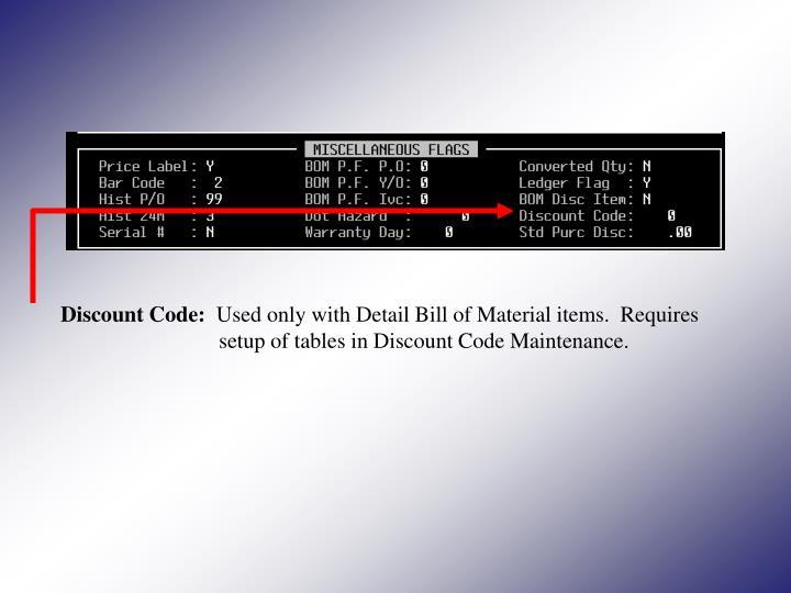 Discount Code: