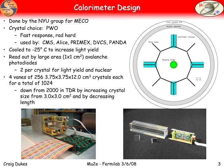 Calorimeter design