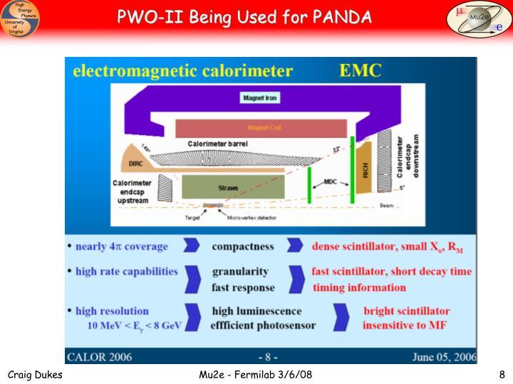 PWO-II Being Used for PANDA
