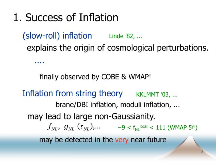 1 success of inflation