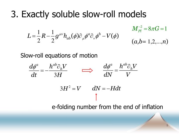 3. Exactly soluble slow-roll models